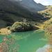 das Glatthorn wird im Stafelalpsee zum 'Grünhorn'