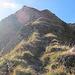 beim Aufstieg am Grat entlang wurde ich oft von der Sonne geblendet