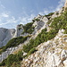 Im Aufstieg zum Maglić / Маглић (Route durch die Ostflanke) - Nach Überklettern des Seitengrats. Rechtshaltend geht's jetzt die steile Flanke hinauf.