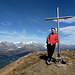 Am Gipfelkreuz vom Fülhorn