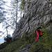 Etwa 250 Höhenmeter geht es den Nordhang des Seekogels  sehr steil hinauf, manchmal grasig, manchmal etwas schrofig.<br />