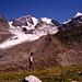Dr Tschiervagletscher sendet 1989 -gespeist aus 3 Gletscherströmen- ein (noch) mächtige Zunge ins Tal.
