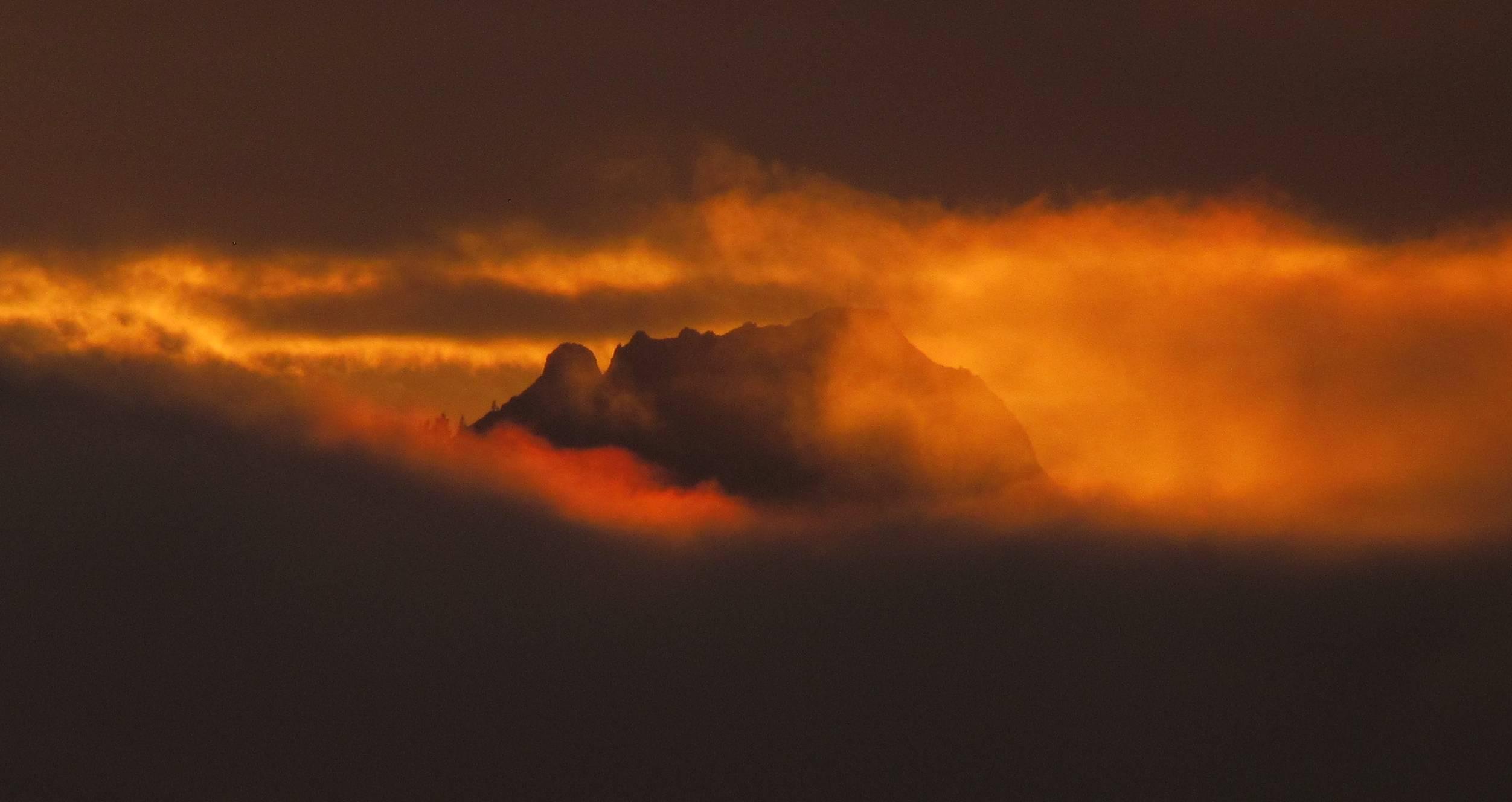sonnenuntergang mit nebel und - photo #15