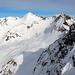 in der Bildmitte die Männliflue 2652m, rechts das Winterhore 2609m (Bild vom Dezember 2007, Tour Drümännler 2436m)