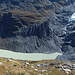 Blick hinunter zum Gletschersee