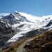 Hüttenweg mit Vadret da la Sella und der Schneekuppe