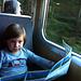Retour mit der Bahn ab Mürren, Studium der gewanderten Route…