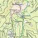 Rot Aufstieg Blau Abfahrt zur Rauschalm Grün Abfahrt ins Tal