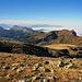 """Hinten, Gemmenalphorn & co, Sigriswiler Grat, vorne: Trogenhorn, Hohgant West, kleiner Felszapfen unten am Grat """"Aff"""""""