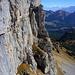 Die hohen (über 100 Meter) markanten Furggegütsch Felsen aus der Nähe