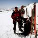Alessandra e Simona al deposito sci.