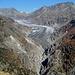 Blick zurück auf den Aletschgletscher