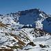 Scima da Saoseo (3264m ü. NN) und der zugefrorene Lagh da Mürasciola