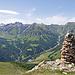 Ganz unten Pra San Peder, links Val Laver und rechts Val Chöglias