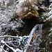 Fasserfälle und Wasserfällchen im Dorfbachtobel. In strengen Wintern frieren sie zu.
