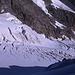 Spalten auf dem oberen Morteratsch-Gletscher.