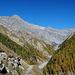 Höhenweg mit Blick zum Piz Quattervals