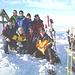Foto di gruppo in cima al Bluemberg.