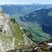 herrlicher Blick Richtung Walensee und Alpstein