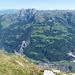überall Berge, links der Mitte Mürtschenstock und Fronalpstock