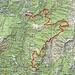 Ungefähre Route Vergeletto-Gresso-Russo