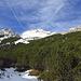 Unterhalb des Großkars - die Wasserfallkarspitze ganz in weiß (zweite von links)