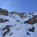 Abstiegsgelände -  kurze Passage, die mit Vorsicht zu gehen war