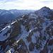 Kurzer schneebedeckter Gratübergang an der Klimmspitze