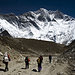 Die Gruppe vor der Lhotse-Wand.