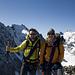 Tobias und Adi auf dem Gipfel des Piz Morteratsch (3752m).