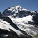 Die Nordflanke des Piz Roseg (3937m) beim Abstieg vom Piz Morteratsch.