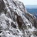 Rinnender Schnee in der Flanke des Ostgrates