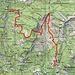 Ungefähre Route Vergeletto-Forcola