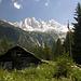 Die Spitzen der Sciora beim Aufstieg zur Sciora-Hütte von Bondo.