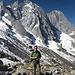 Jörg beim Aufstieg zum Pass Cacciabella Sud.