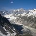Blick zurück aufs die Rückseite der Scioragruppe beim Aufstieg zum Pass da Casnil Sud.