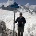 Auf dem schneebedeckten Pass da Casnil Sud (2941m).