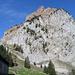 Holzegg: Grosser Mythen, das Restaurant ist links auf dem Grat oben sichtbar