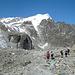 Pigne d`Arolla (rechts) mit Glacier du Mt. Collon (links)