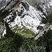 Tiefblick zur Alp Mans.