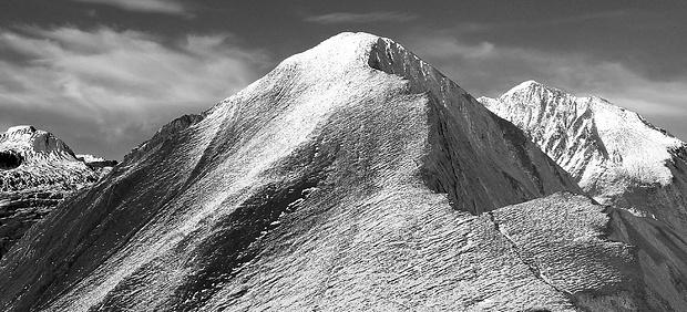 Blick auf die Bretterwandspitze.