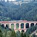 Markenzeichen der Semmeringbahn: Der Viadukt über die Kalte Rinne.