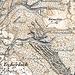 Ausschnitt aus der Siegfriedkarte (Jahrhundertwende). Damals schien der alte Weg über den Schlums Chopf noch rege genutzt zu werden