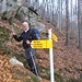 Il bivio con l'unico cartello segnaletico