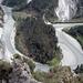 """Blick vom """"Mauersegler"""" auf die Rheinschlaufe bei Chli Isla"""