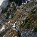 Etwas ausgesetzte Querung zum Bergweg hinüber