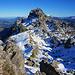 Pt1980 Weiterweg zum Schafläger, leider führt der Weg hier auch durch den Schnee, links vom Mittaghorn (Bildmitte)