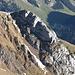 Der zuvor bestiegene Felszahn der Schofwis.