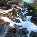 Bergwanderweg Gmeinenwis-Neuenalpspitz: wegen ein paar Begehungen traf ich einen teilweise vereisten Weg an.