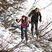 [u Laura&..] e [u lunari] negli ontani: lo scialpinismo è anche questo…